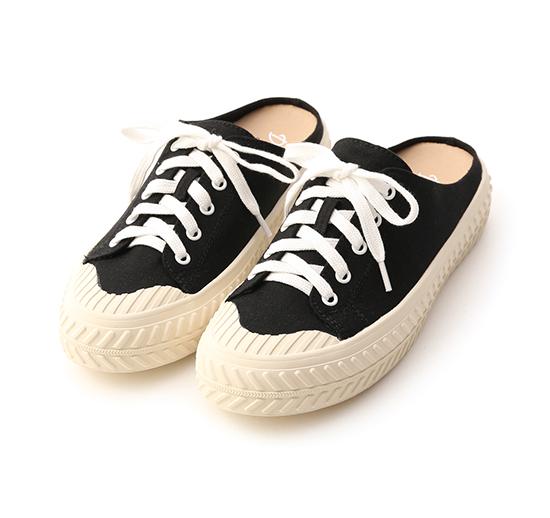 Canvas Mules Sneakers Black