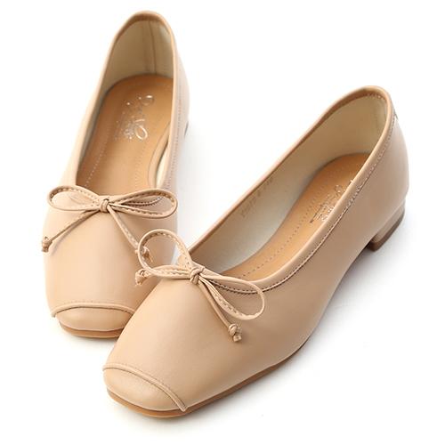 優雅甜心.方頭低跟芭蕾娃娃鞋