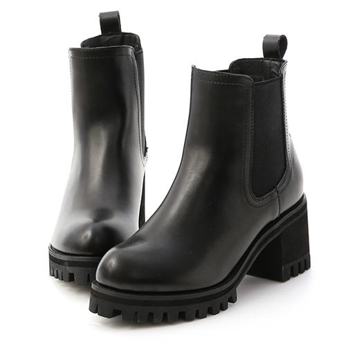 歐美風尚.厚底高跟切爾西短靴