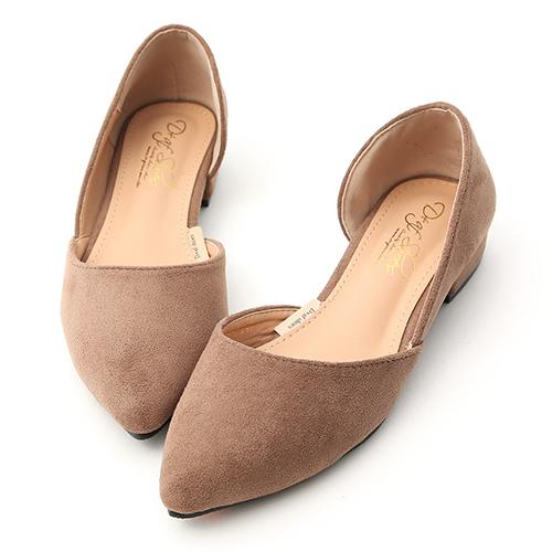 D+AF 超模比例.顯瘦感絨料低跟膝上長靴