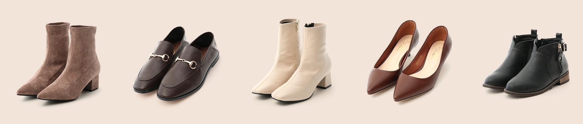 2019秋冬熱銷女鞋女靴 襪靴 樂福鞋 白靴 高跟鞋 短靴