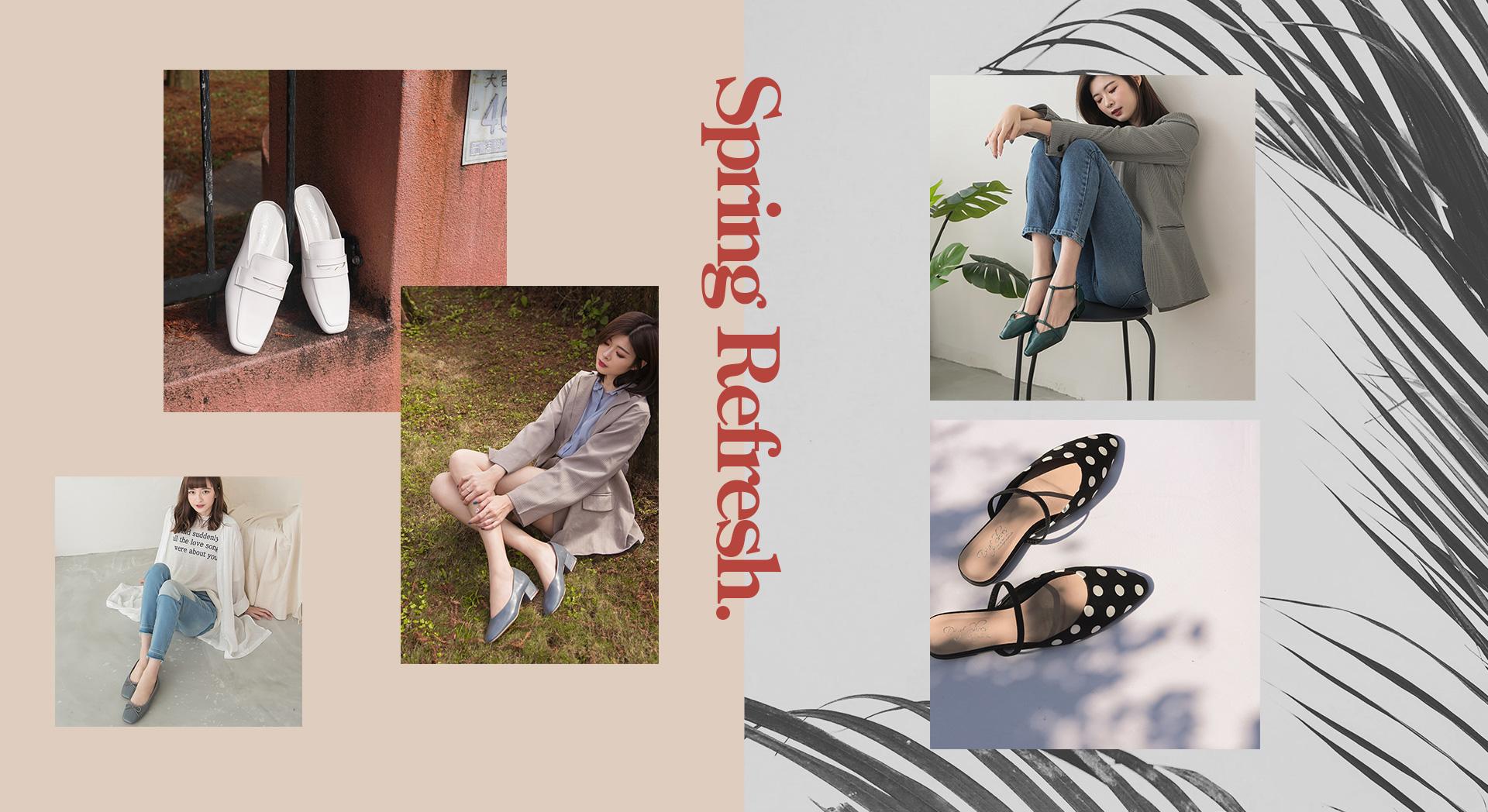 早春新品人氣熱銷女鞋鞋款 穆勒鞋 低跟鞋 娃娃鞋