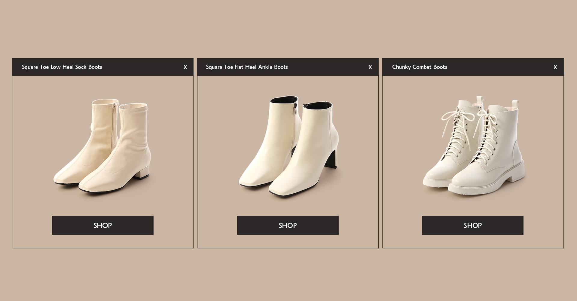白靴 襪靴 馬丁靴 短靴推薦