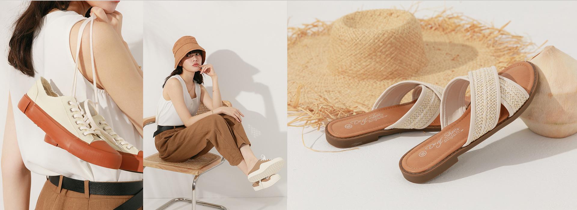 D+AF流行女鞋夏季新款涼鞋 拖鞋 穆勒鞋 休閒鞋 YOUTUBE頻道