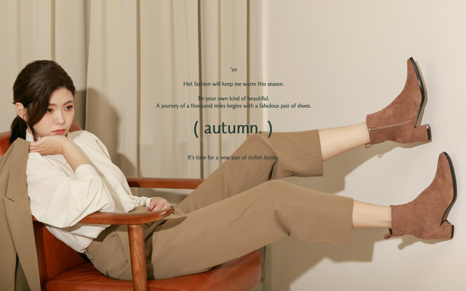 D+AF 2020秋季流行女鞋 最新鞋款 短靴