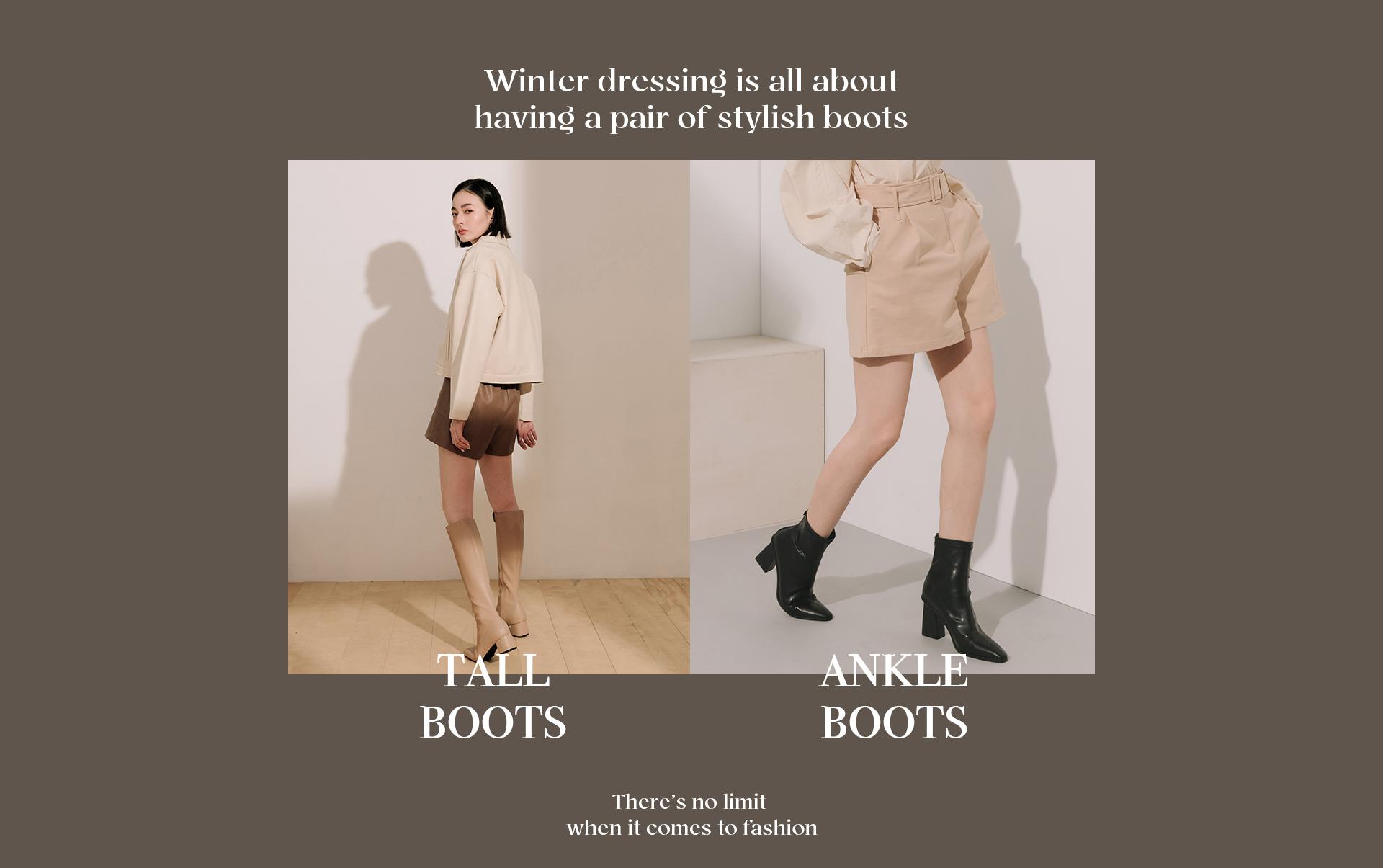 D+AF 2020女靴 靴款 襪靴 綁帶靴 短靴 長靴