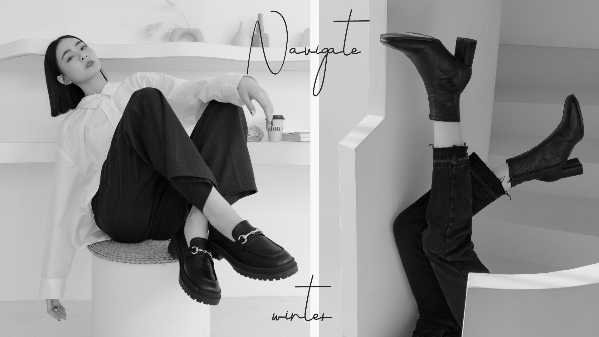 2021流行女鞋 女靴 短靴 樂福鞋