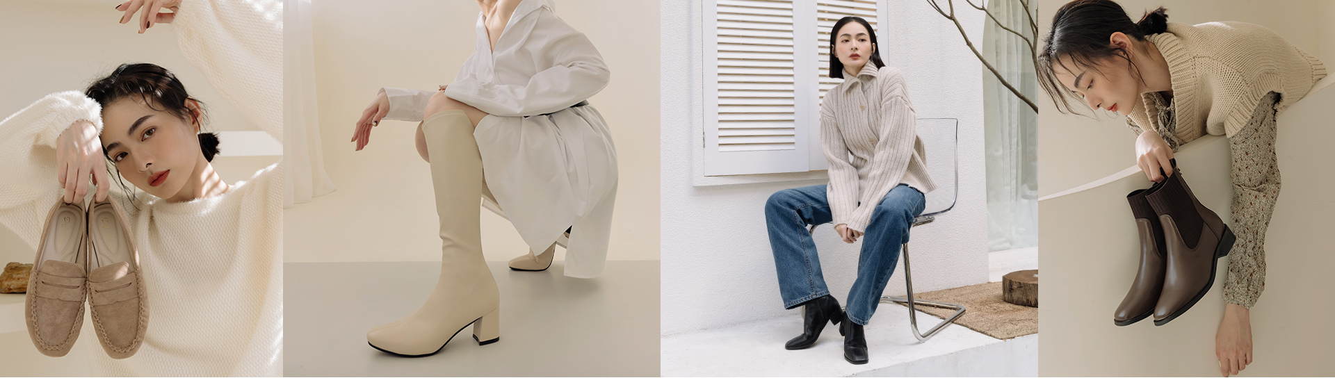 D+AF 女靴(鞋)推薦 短靴 白色長靴 襪靴 樂福鞋 2021