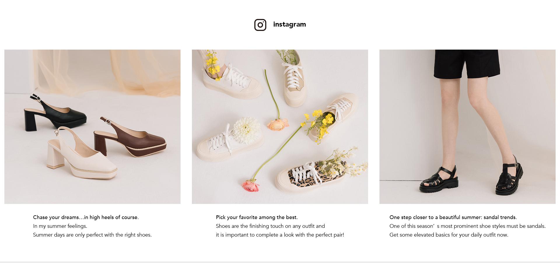 D+AF 2021夏日鞋款穿搭 後空高跟鞋 休閒鞋 厚底涼鞋 探索更多夏日流行女鞋趨勢@Instagram D+AF 女鞋(@dafshoes)