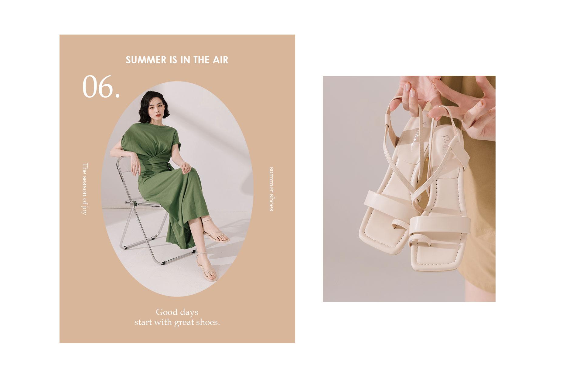 D+AF 2021春夏女鞋流行趨勢 涼鞋 涼拖鞋 拖鞋