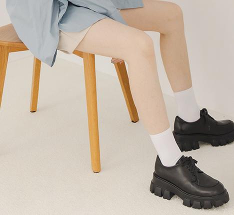 輕量鋸齒底綁帶牛津鞋