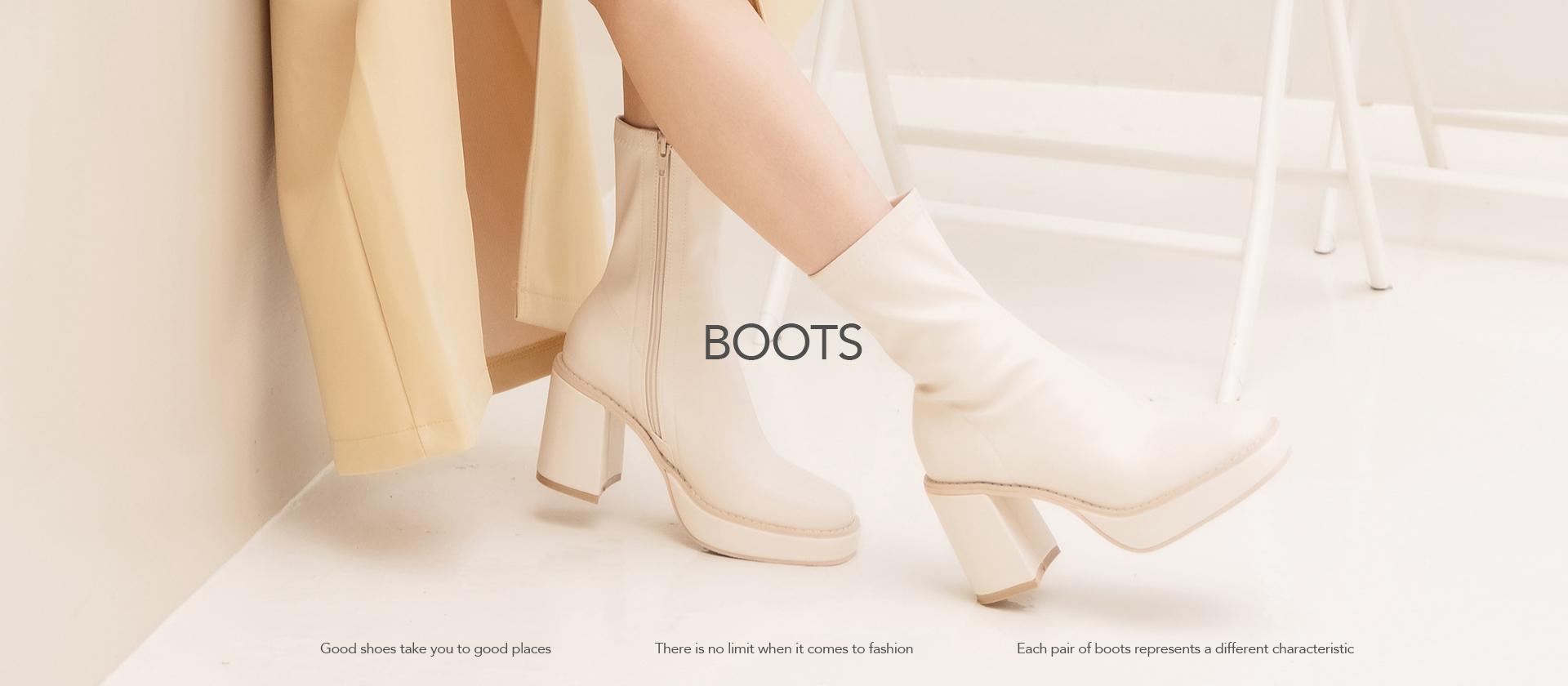2021秋季女靴人氣單品推薦 米白色襪靴穿搭