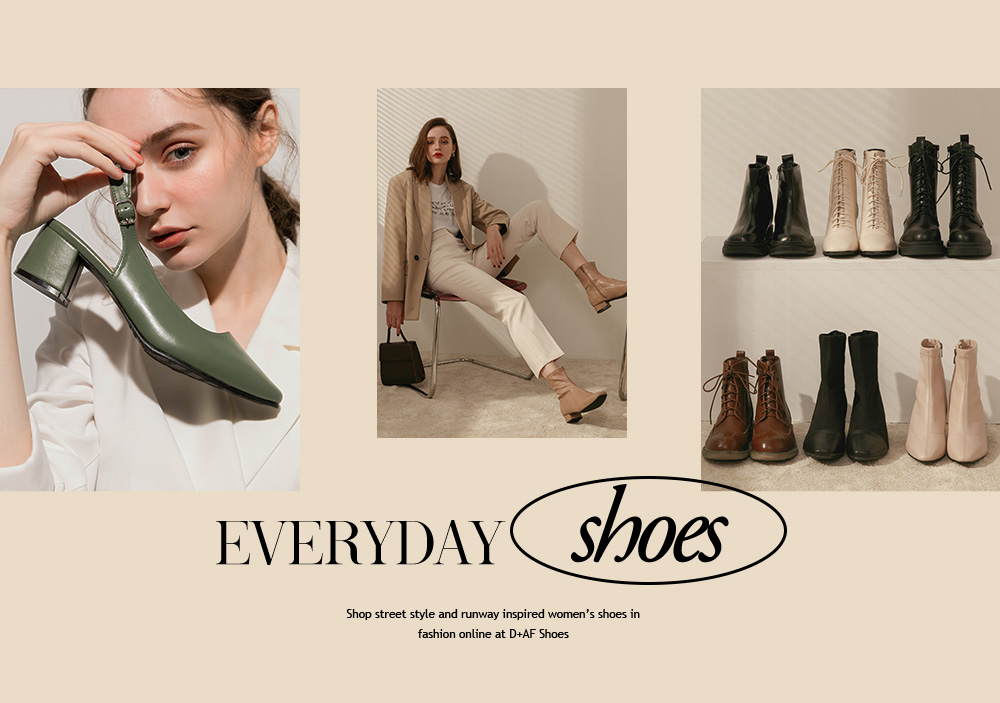 Your everyday shoes collection - all kind of trendy shoes including pumps, boots, heels