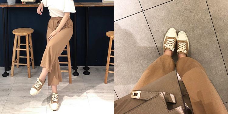 D+AF隨性有型.小方頭帆布休閒穆勒鞋07