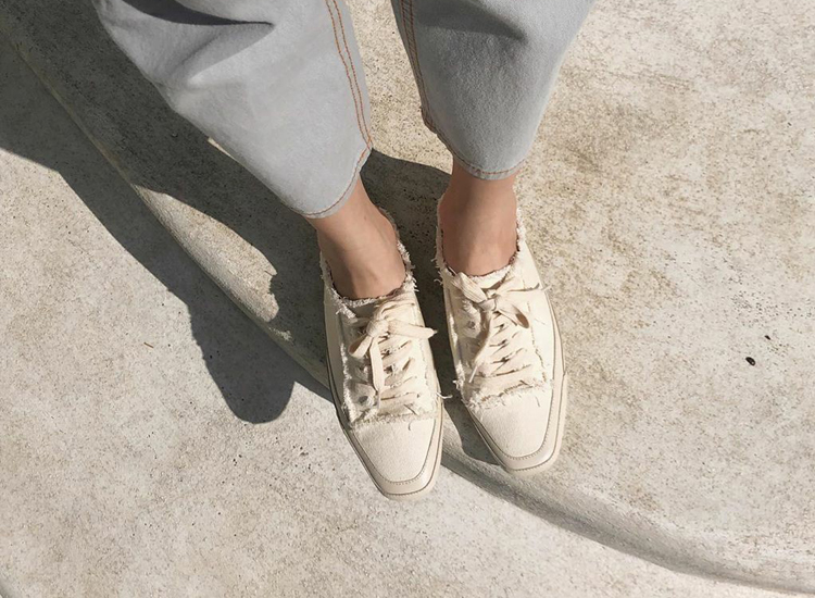 D+AF 頹廢休閒感方頭穆勒鞋
