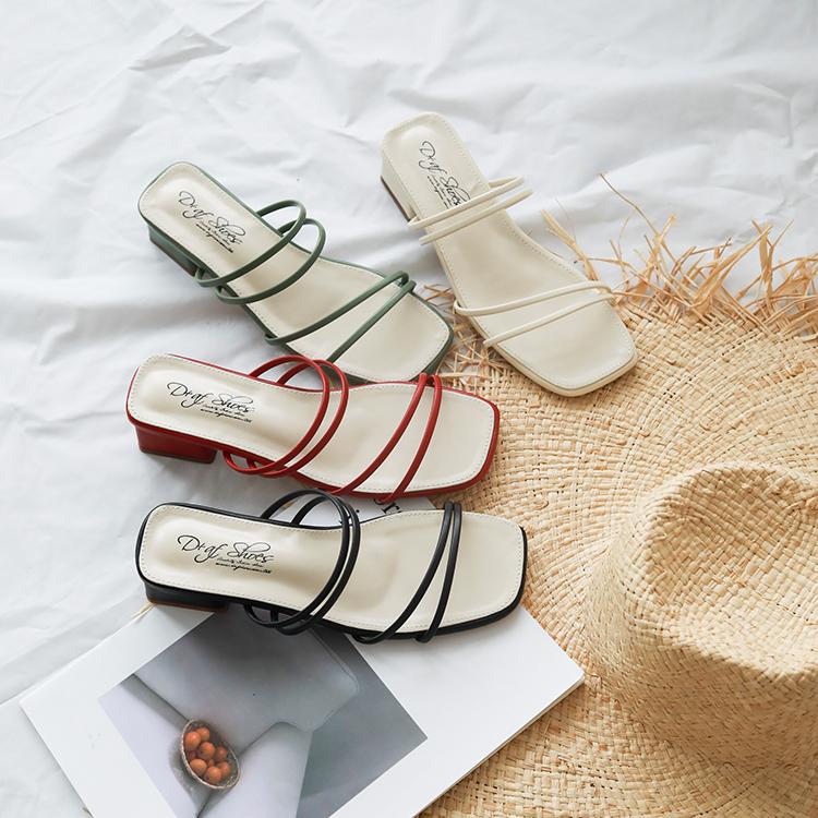 D+AF夏日主流方頭涼鞋