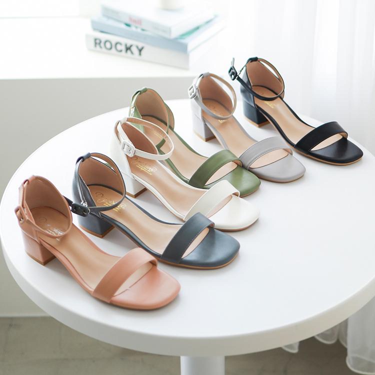 D+AF時尚潮流方頭涼鞋
