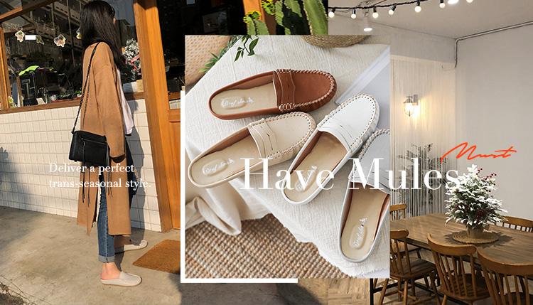 D+AF 豆豆穆勒鞋 MIT國民鞋 老師傅手工鞋