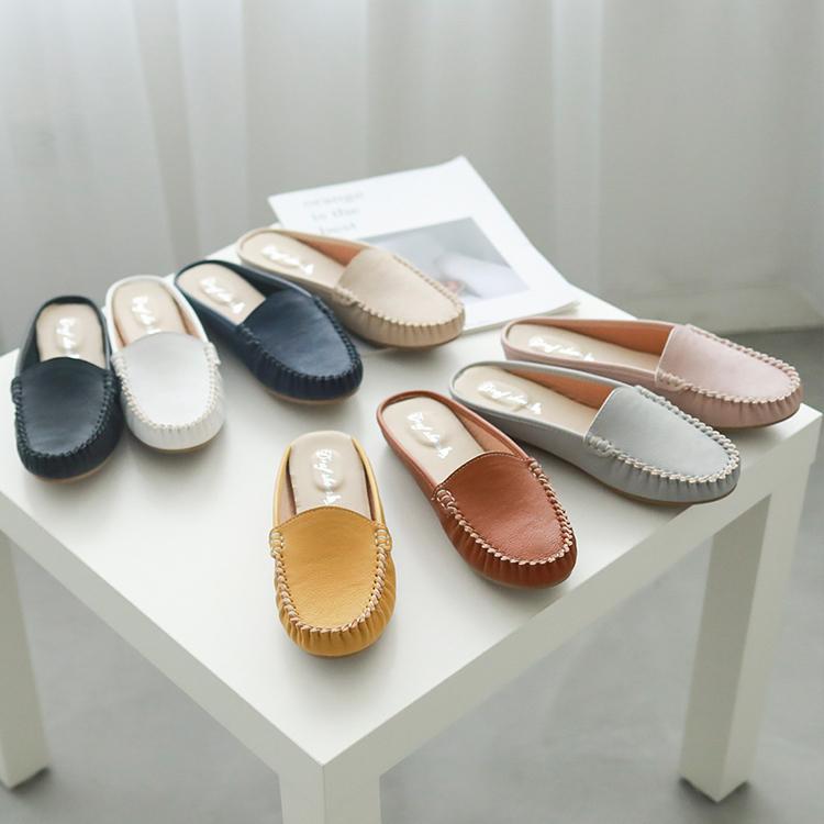 D+AF MIT素面豆豆穆勒鞋