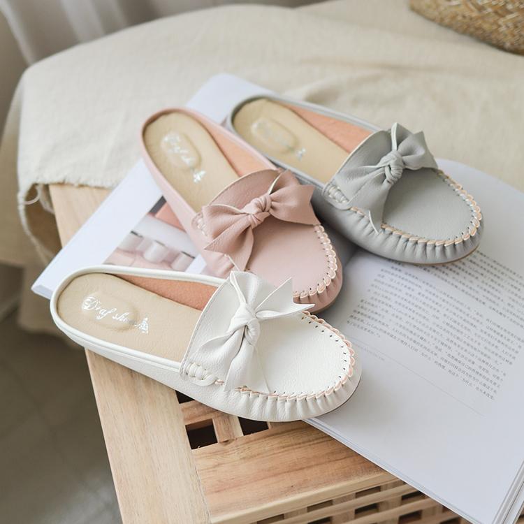 D+AF 手工製豆豆穆勒鞋