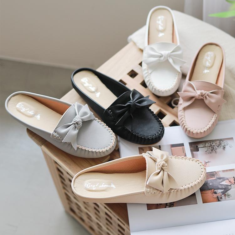 D+AF MIT蝴蝶結豆豆穆勒鞋