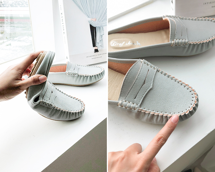 D+AF 手工製豆豆穆勒鞋 180彎折 手工縫製的精緻鞋面
