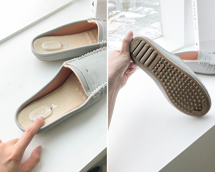 D+AF 台灣製造豆豆穆勒鞋 按摩乳膠軟墊 橡膠豆豆鞋底