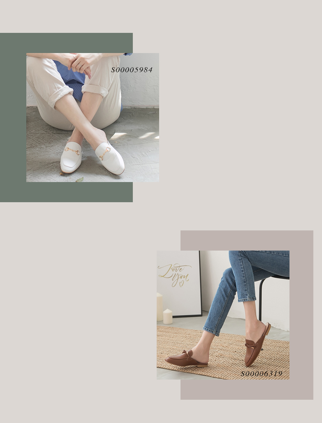 D+AF 秋冬鞋 穆勒鞋 平底穆勒鞋