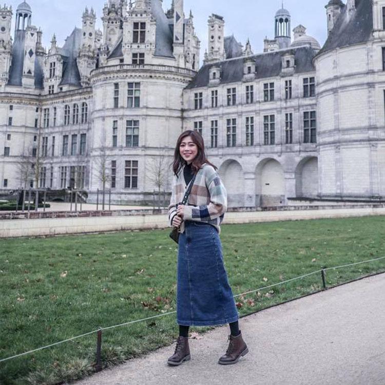 D+AF復古雕花綁帶牛津短靴 法國穿搭