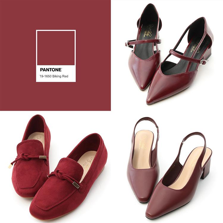D+AF 高跟涼鞋 深紅鞋款 流行色鞋款 流行鞋款