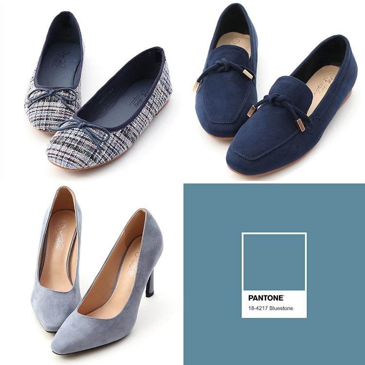 D+AF 高跟鞋 包頭高跟鞋 流行色鞋款 流行鞋款