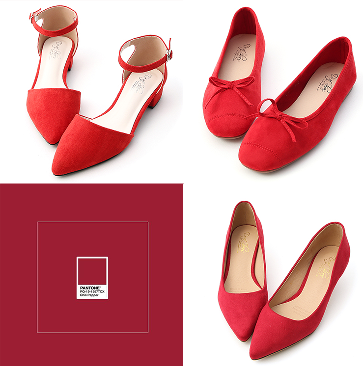 D+AF 高跟鞋 辣椒紅高跟鞋 流行色鞋款 流行鞋款