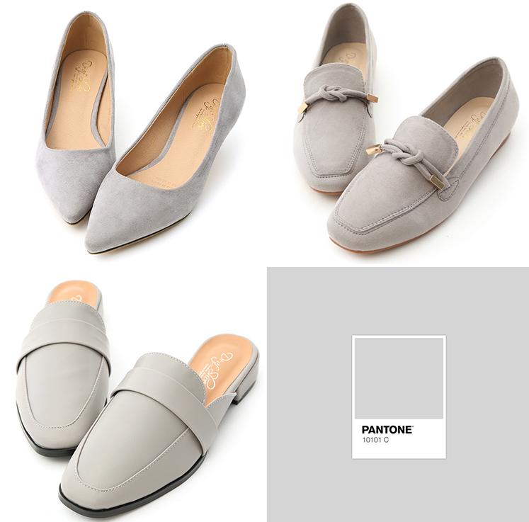 D+AF 穆勒鞋 包頭鞋 灰色穆勒鞋 流行色鞋款 流行鞋款