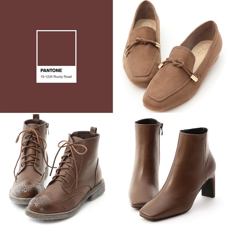 D+AF 秋冬靴 靴子 高跟靴 咖啡色靴子 流行色鞋款 流行鞋款