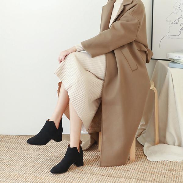 蘿蔔腿、O型腿、X型腿適合的靴款 蘿蔔腿穿搭 寬筒靴 大衣穿搭