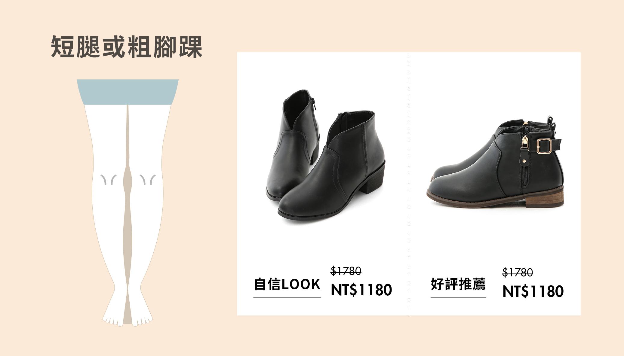 蘿蔔腿、O型腿、X型腿、蜜大腿、短腿、細長腿 選擇靴子