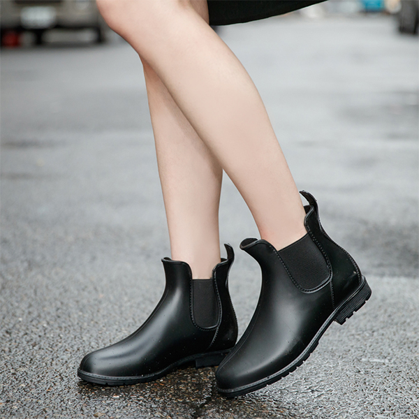 D+AF側鬆緊切爾西短筒雨靴 雨靴推薦