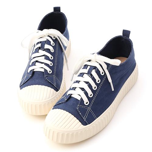 D+AF 休閒鞋 帆布鞋 藍色帆布鞋 英國藍帆布鞋
