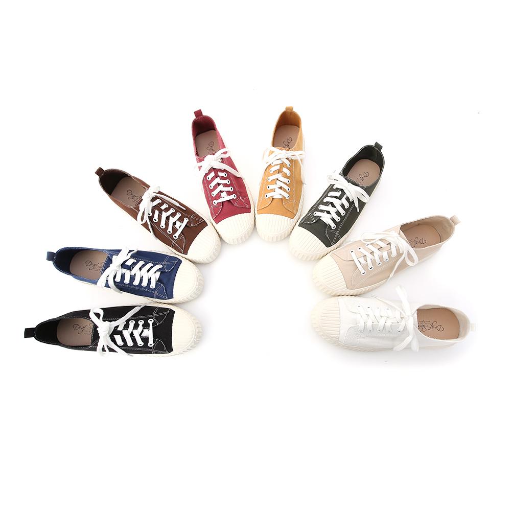 D+AF 休閒鞋 帆布鞋 白色帆布鞋