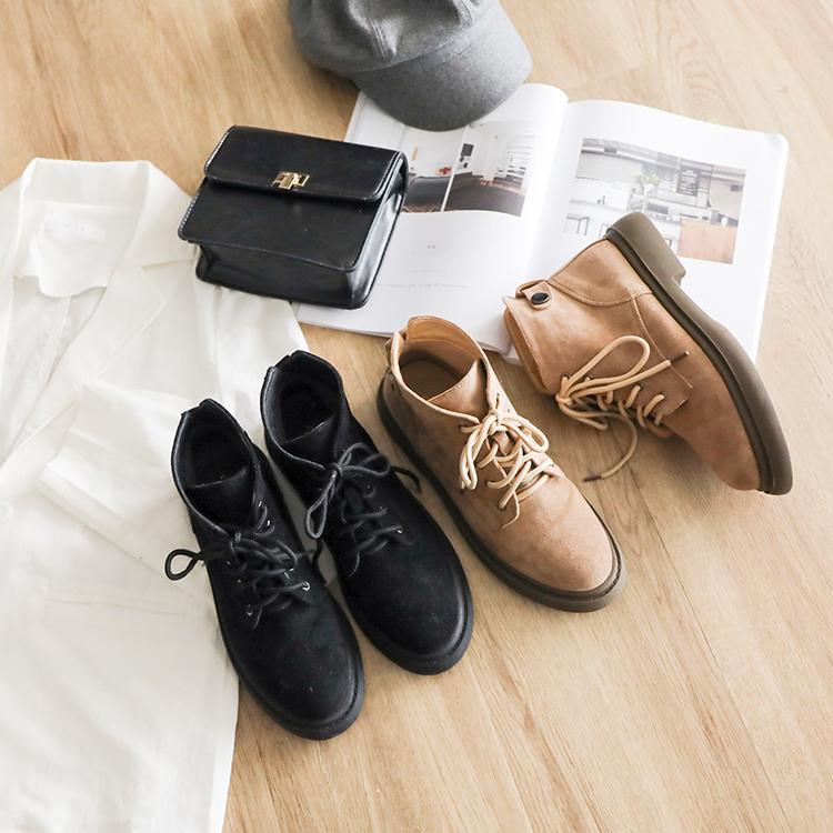 D+AF加厚鞋底中筒馬汀靴 馬汀靴 馬汀靴穿搭 馬丁靴女