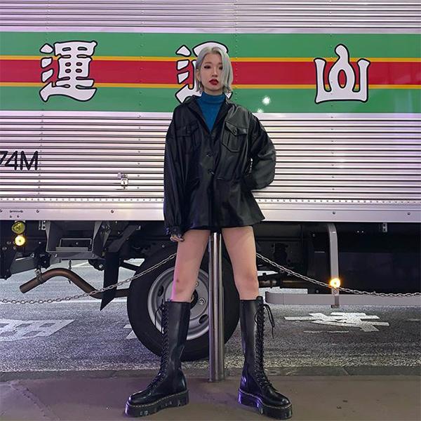 馬丁靴 馬丁靴推薦 馬丁靴女 馬汀靴搭配 皮衣穿搭 皮衣外套