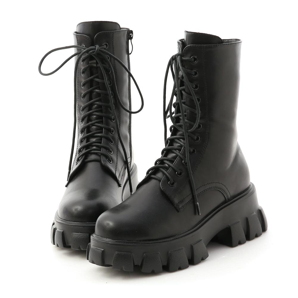 D+AF超輕量綁帶鋸齒靴 馬汀靴 馬汀靴穿搭 馬丁靴女