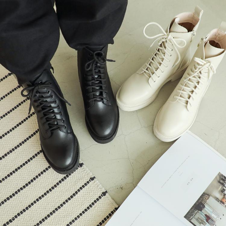 街頭型人.加厚鞋底中筒馬汀靴