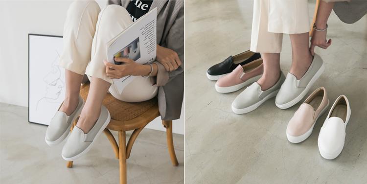 D+AF MIT素面加厚底休閒懶人鞋