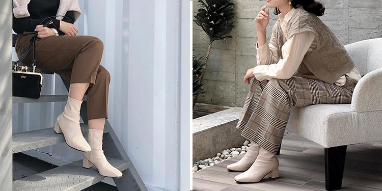 D+AF 靴子 靴子穿搭 秋靴 白靴