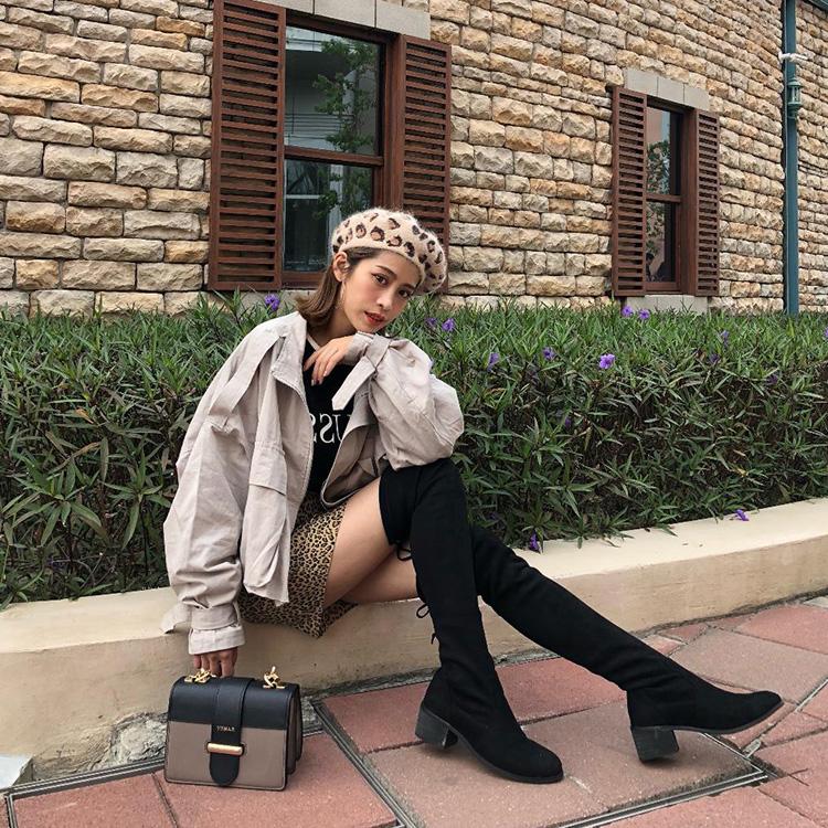 D+AF 靴子 靴子穿搭 秋靴 膝上靴 過膝靴