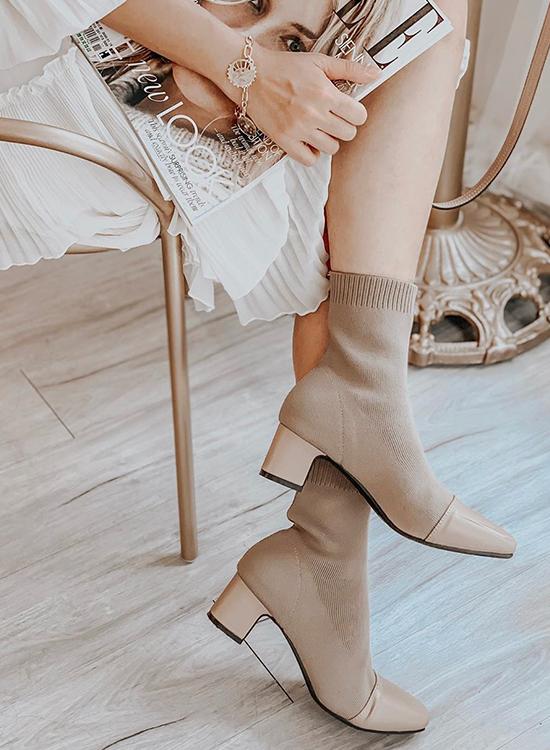 D+AF 靴子 靴子穿搭 秋靴 襪靴