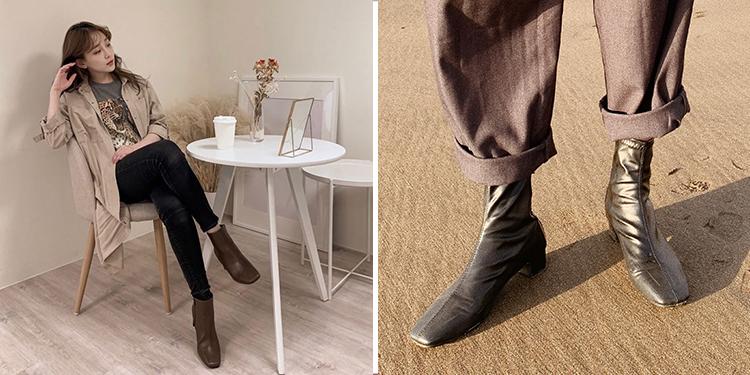 D+AF 靴子 靴子穿搭 秋靴 方頭靴 穿搭