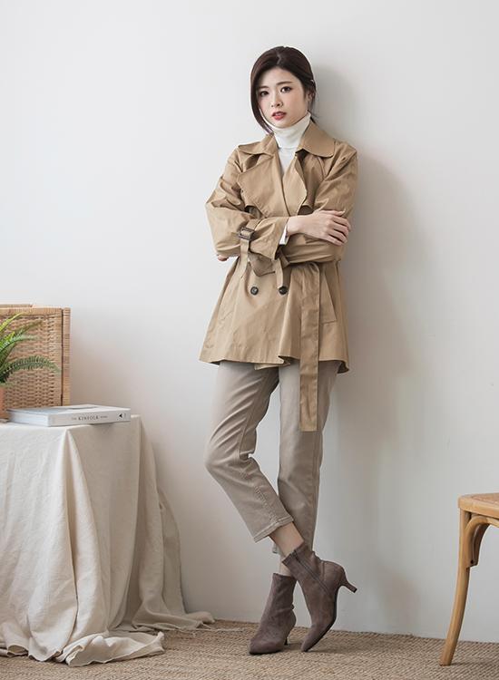奶茶色 奶茶色穿搭 奶茶色鞋子 短靴女 短靴穿搭 風衣穿搭 風衣外套