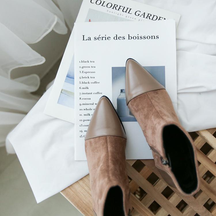 奶茶色 奶茶色穿搭 奶茶色鞋子 短靴女 短靴穿搭